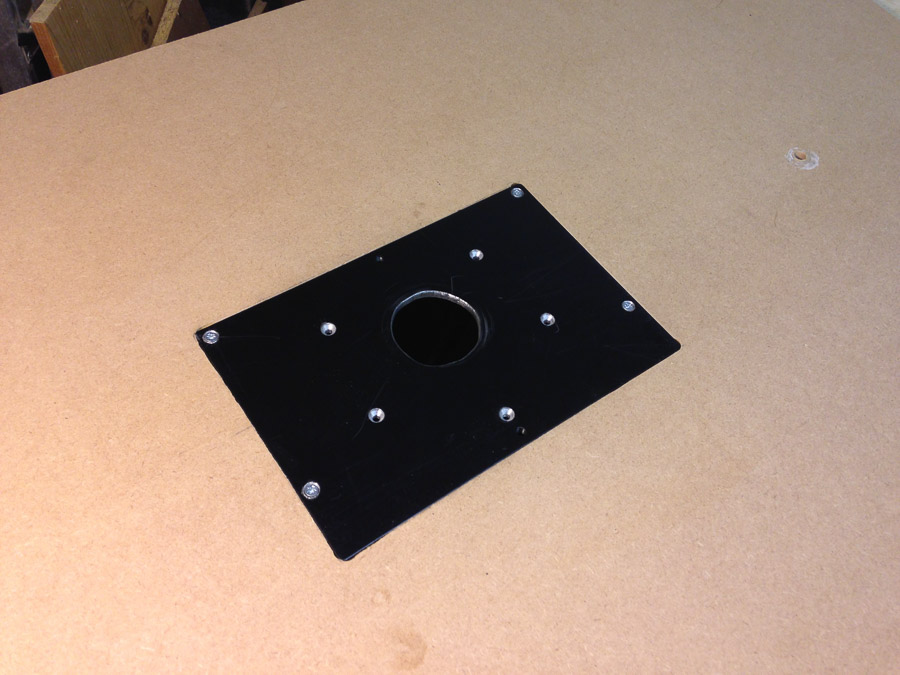 New router table plate